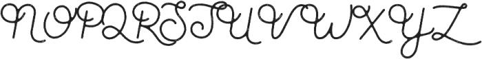 Parks Script Rough otf (400) Font UPPERCASE