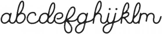 Parks Script Rough otf (400) Font LOWERCASE