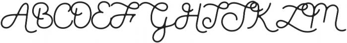 Parks Script otf (400) Font UPPERCASE