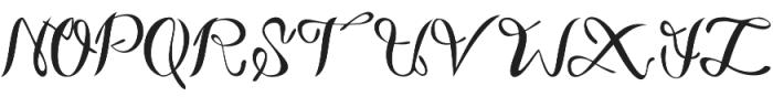 ParkukedengeRk Italic otf (400) Font UPPERCASE
