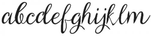 ParkukedengeRk Italic otf (400) Font LOWERCASE