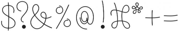 Pasta Script Spaghetti otf (400) Font OTHER CHARS