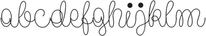 Pasta Script Spaghetti otf (400) Font LOWERCASE