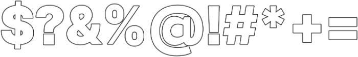 Paste Outline otf (400) Font OTHER CHARS