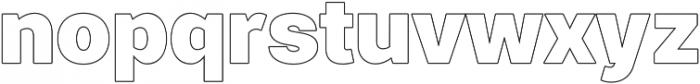 Paste Outline otf (400) Font LOWERCASE