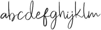 Pastelyn otf (400) Font LOWERCASE