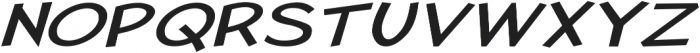 Pastura Extra-expanded Italic otf (400) Font UPPERCASE