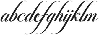 Pateglamt Script otf (400) Font LOWERCASE