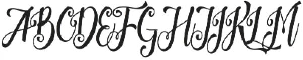 Patronia Script otf (400) Font UPPERCASE