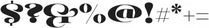 Pauline Didone Black otf (900) Font OTHER CHARS