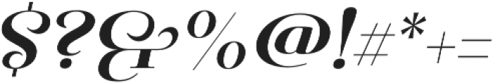 Pauline Didone Bold Italic otf (700) Font OTHER CHARS