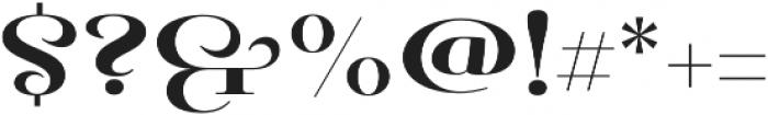 Pauline Didone Bold otf (700) Font OTHER CHARS