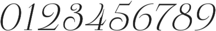 Pauline Didone Light Italic otf (300) Font OTHER CHARS