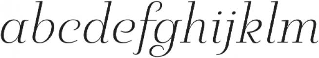 Pauline Didone Light Italic otf (300) Font LOWERCASE