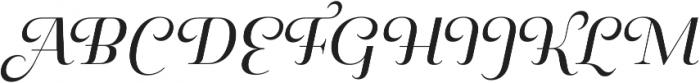 Pauline Didone Regular Italic otf (400) Font UPPERCASE