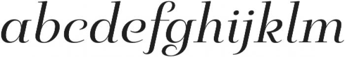 Pauline Didone Regular Italic otf (400) Font LOWERCASE