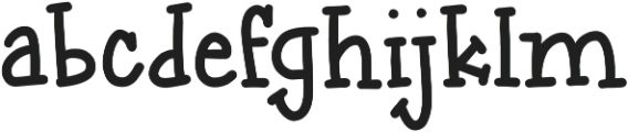 passing notes otf (400) Font LOWERCASE