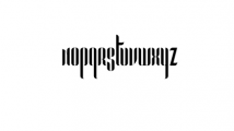 Pandora-Bold Font LOWERCASE