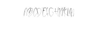 Papies.ttf Font UPPERCASE
