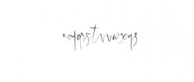 Papies.ttf Font LOWERCASE