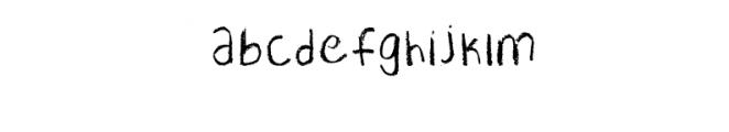 Pastel SVG Font LOWERCASE