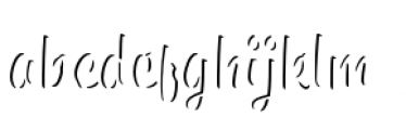 Paintlay Light One Font LOWERCASE