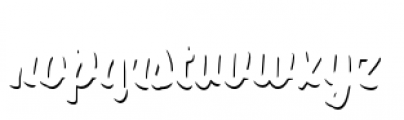 Paintlay Shadow One Font LOWERCASE