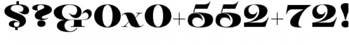 Pauline Didone Black Font OTHER CHARS
