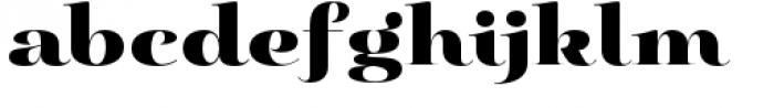 Pauline Didone Black Font LOWERCASE