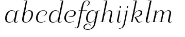 Pauline Didone Light Italic Font LOWERCASE