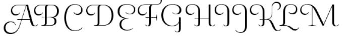 Pauline Didone Light Font UPPERCASE