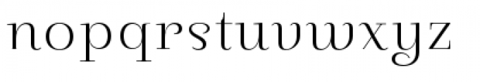 Pauline Didone Light Font LOWERCASE