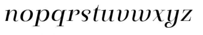 Pauline Didone Regular Italic Font LOWERCASE