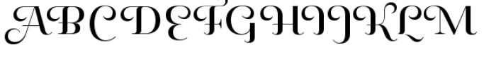 Pauline Didone Regular Font UPPERCASE