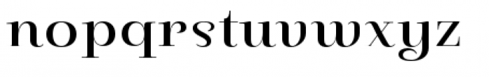 Pauline Didone Regular Font LOWERCASE