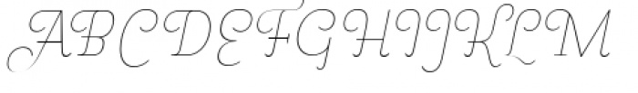 Pauline Didone Thin Italic Font UPPERCASE
