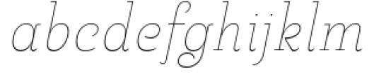 Pauline Didone Thin Italic Font LOWERCASE