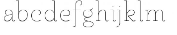 Pauline Didone Thin Font LOWERCASE