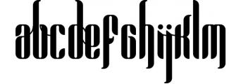 Pandora Display font 1 Font UPPERCASE