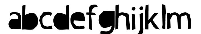 PAPERCUT' CRE Font LOWERCASE