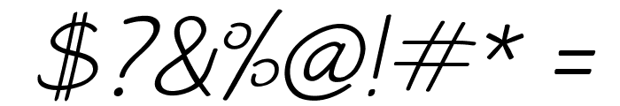 PAROLE Script Italic Demo Font OTHER CHARS