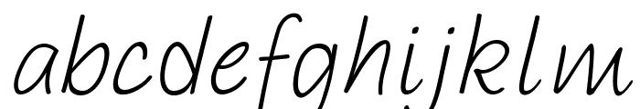 PAROLE Script Italic Demo Font LOWERCASE
