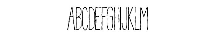 Pablo Skinny Font UPPERCASE