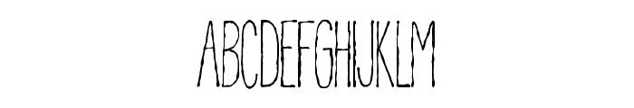 Pablo Skinny Font LOWERCASE