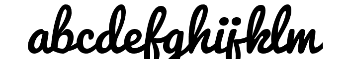 Pacifico Regular Font LOWERCASE