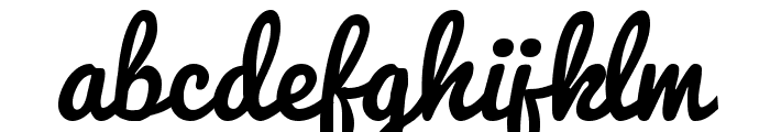 Pacifico Font LOWERCASE