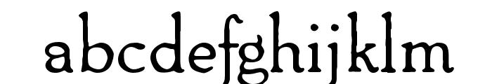 Packard Antique Regular Font LOWERCASE