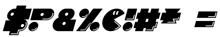 Pacmania Italic Font OTHER CHARS