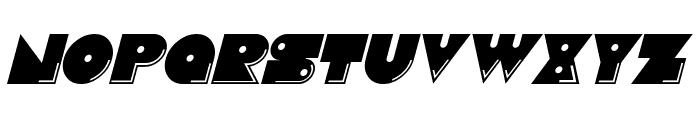 Pacmania Italic Font UPPERCASE