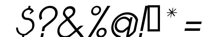 Pacotilleital light Font OTHER CHARS